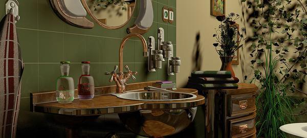 7066bbb2c9781 Łazienka w stylu retro - wybór lustra - Dorożka Napoleona
